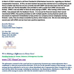 business insurance testimonial